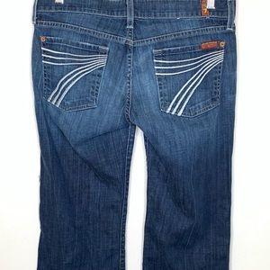 "7 For All Mankind Dark Wash Dojo Wideleg Jeans 34"""
